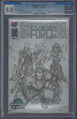 Cyberforce V3 #1 Cgc 9.8!! Wizard World Los Angeles 2006 Exclusive Sketch Cover!
