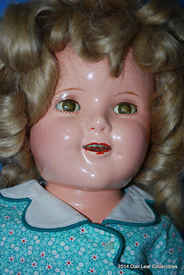 """Vintage 18"""" Shirley Temple Composition Doll. Excellent condition!"""