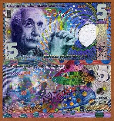 Kamberra,  5 Numismas, 2016, UNC > Einstein, New issue, Completely redesigned