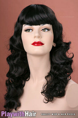 "Retro 50's Goth Pinup Style Wig Brown Black ""Katy Perry"" : Jon Renau -  Pin Up"