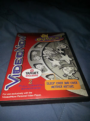 VideoNow Disc Fairly Odd Parents Sleep Over and Over Mother Nature RARE