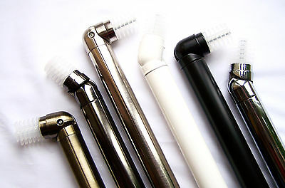 28mm Bay Window Curtain Pole Corner Bend Joint Elbow Brass Silver Black White Ch