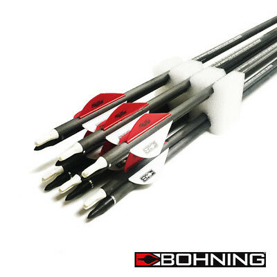 "12 x Carbon Arrows 30"" Blazer Vane 