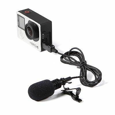 NEW Pro Flexible Lavalier Microphone for Gopro Hero 3 3+ 4 Action Camera