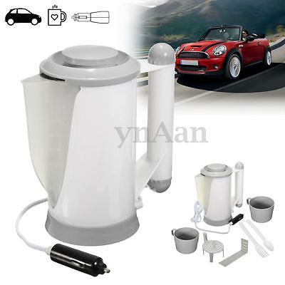 700Ml 12V Car Vehicle Camping Kettle Baby Food Warmer Water Heater Boiler 2 Cup