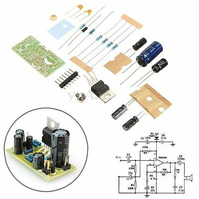 TDA2030A Audio Power Amplificador Board Módulo 18W DC9-24V DIY Kits Components