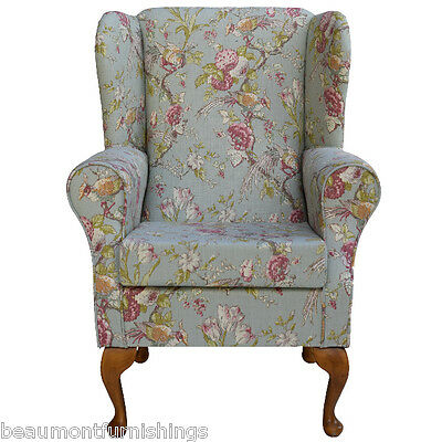 Small Westoe Orthopaedic Chair in a Duck Egg Renaissance Fabric