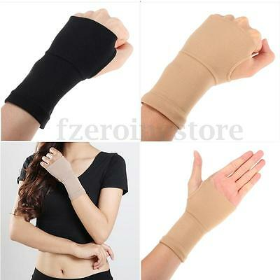 2X Carpal Tunnel Wrist Elastic Hand Support Strap Brace Arthritis Sprain Gloves