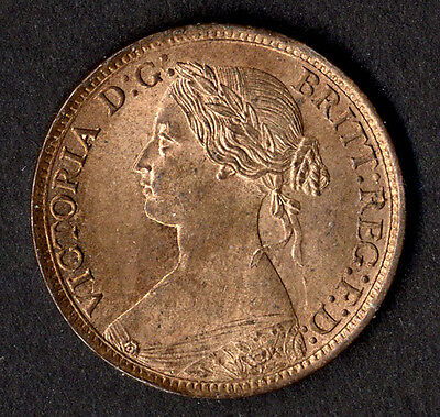 Victoria, farthing, 1864, good EF with lustre