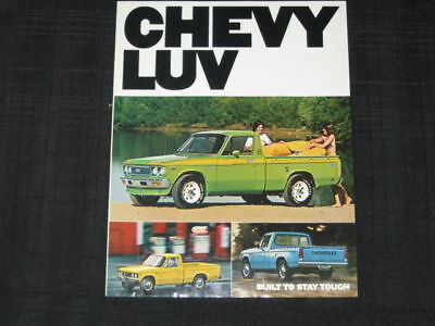 1977 Chevrolet LUV Pickup Truck Folder Sales Brochure
