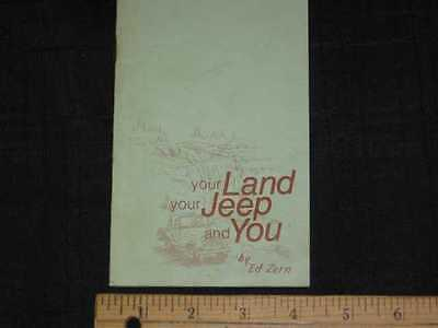 1972 Your Land Your JEEP & You by Ed Zern Booklet