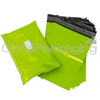 "100 x Strong LIME NEON GREEN 6x9"" Mailing Postal Postage Bags 6""x9"" (165x230mm)"