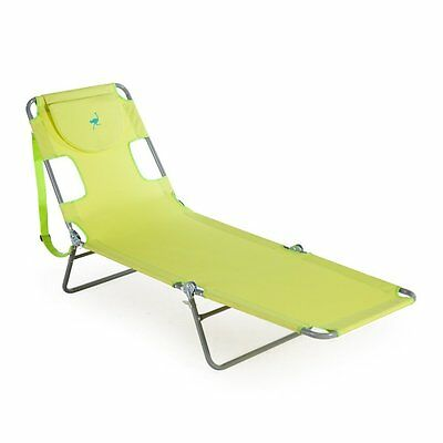 NEW Ostrich Lounge Chaise Lounge Beach Chair Camping Outdoor Lounger Folding
