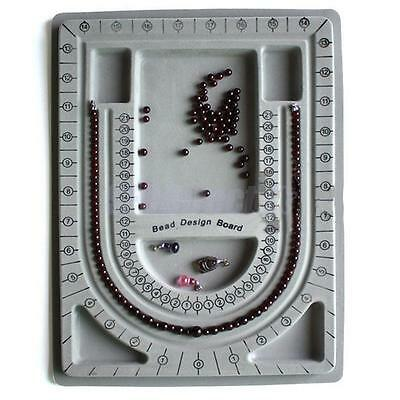 Flocked Bead Board Tray Design String Beading Jewelry Organiser Craft Tool