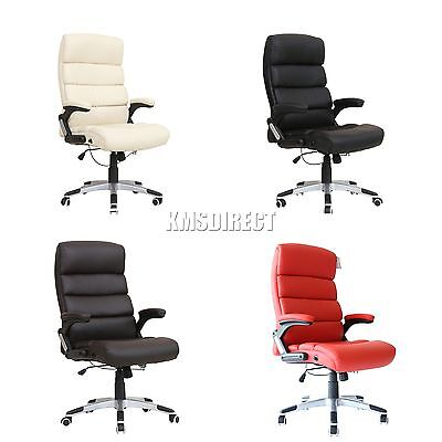 FoxHunter Computer Executive Office Desk Chair PU Leather Swivel High Back OC04