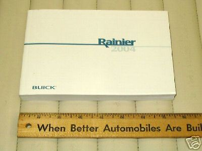 owners manual for 2004 buick rainer