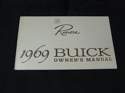 1969 Buick RIVIERA Car Owner's Instruction Manual NOS