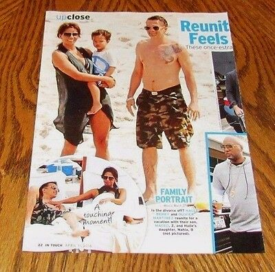 Shirtless OLIVIER MARTINEZ Star Bare Feet Tattoo Pinup Clipping 8X10