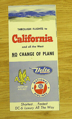 NATIONAL AIRLINES BROCHURE DC6 California and all the west