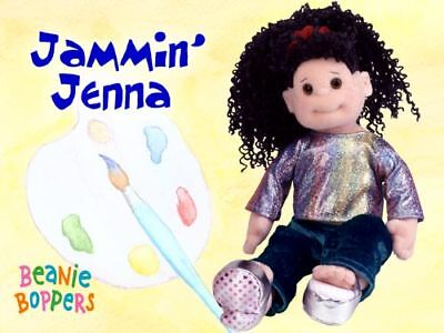 "TY Beanie Boppers JAMMIN' JENNA 13"" Plush DOLL Retired MWMT! Soft Toy Girl"