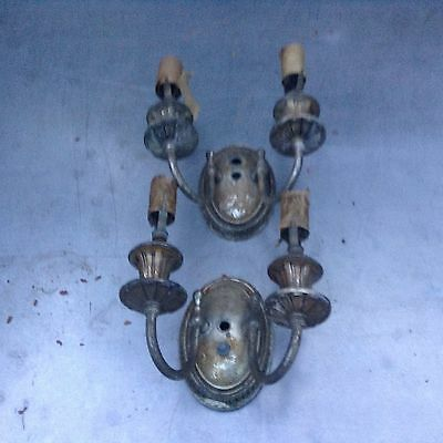 Two arm vintage sconce 1920's Arts Crafts Nouveau