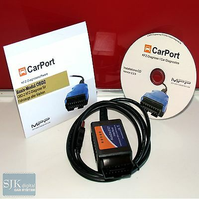++ OBD CAN-BUS Diagnose Interface für Jeep + Carport Basis Software MOTOR ++