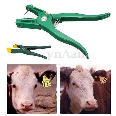 Cattle Livestock Ear Tag Plier Applicator Animal Pig Cow Puncher Marker Tagger