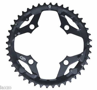 Shimano Deore LX FC-M580 44 Tooth 9-Speed Outer Chainring Black 104mm 4 Bolt