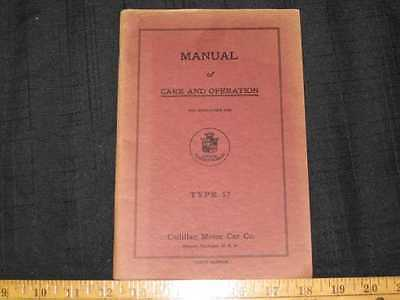1918-19 Cadillac Type 57 9th Edition Owner's Manual