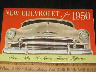 1950 Chevrolet Style, Luxury Folder Sale Brochure