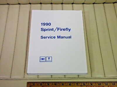 1990 Chevrolet Sprint, Firefly Shop Service Manual