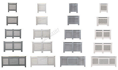 FoxHunter White Painted Radiator Cover Wall Cabinet Wood MDF Traditional Modern