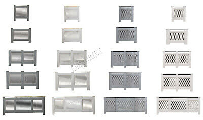 WestWood Radiator Cover - White Or Grey Wooden Radiator Wall Shelves Cabinet