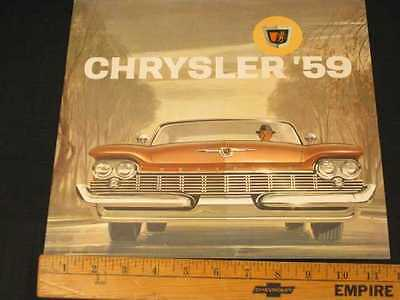 1959 Chrysler Car Sales Catalog Dealer Brochure (CDN)
