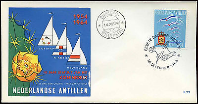 Netherlands Antilles 1964 Statute Of The Kingdom FDC First Day Cover #C26585