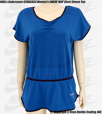NIKE x Undercover GYAKUSOU Women's SWEAT MAP Short Sleeve TOP(S)Brave Blue