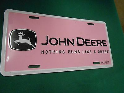 "Great Collectible License Tag- JOHN DEERE ""Nothing Runs Like A Deere"""