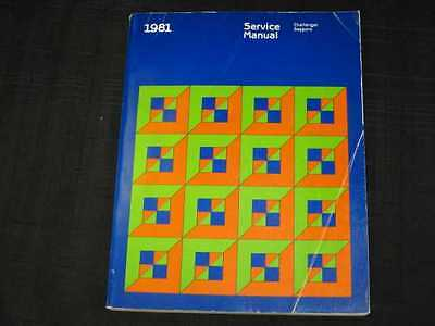 1981 Dodge Plymouth Challenger Sapporo Shop Manual