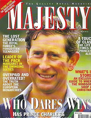 PRINCE CHARLES UK Majesty Magazine 12/95 Vol 16 No 12 QUEEN ELIZABETH