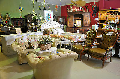 Leather Chesterfield Sofa&Arm Chair, Yellow Butter Color,Tufted Rounded Back