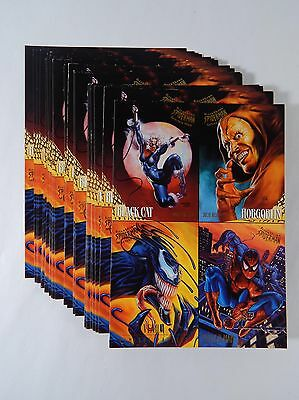 Lot of (35) 1995 Fleer Ultra Spiderman Golden Web 4 Card Promo Sheets