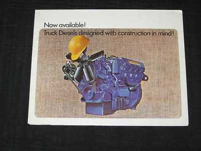 1968 Ford Tandem Axle Diesels Trucks Folder Sales Brochure CDN
