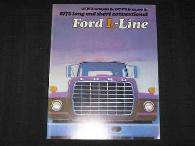 1972 Ford Trucks L-Line Catalog Sales Brochure CDN