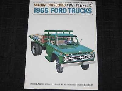 1965 Ford Medium Duty Trucks Folder Sales Brochure