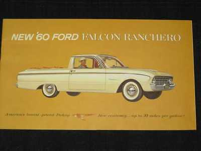 1960 Ford Falcon Ranchero Catalog Sales Brochure