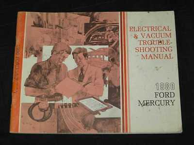 1980 Ford Full Size Ford Mercury EVTM Electrical Manual