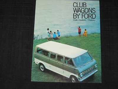 1969 Ford Club Wagons Folder Sales Brochure