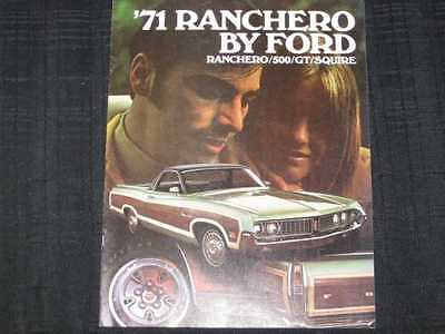 1971 Ford Ranchero Catalog Sales Brochure