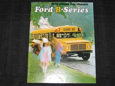1972 Ford School Bus Chassis Catalog Sales Brochure CDN