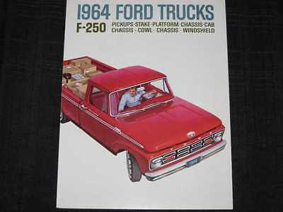1964 Ford Trucks F250 Folder Sales Brochure